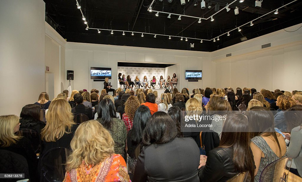 Veronica Webb, Tanya Zuckerbrot, Raakhee Mirchandani, Jenny Hutt, Dylan Lauren, Cozy Friedman, Audrey Puente Fox, Amanda Freeman, and Lyss Stern attend '4th Annual DivaMoms Mom Moguls Breakfas' tat Lord & Taylor on May 4, 2016 in New York City.