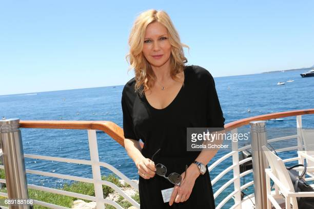 Veronika Ferres is spotted during the 70th annual Cannes Film Festival at hotel du Cap EdenRoc on May 20 2017 in Cap D'Antibes near Cannes France