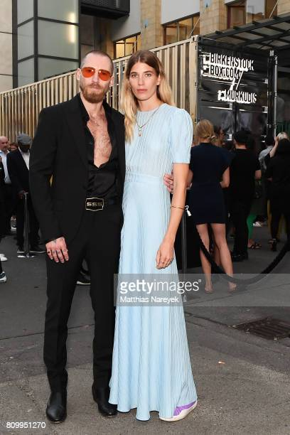Veronika Heilbrunner and Justin O'Shea are seen during the Birkenstock Box Launch at Andreas Murkudis on July 6 2017 in Berlin Germany