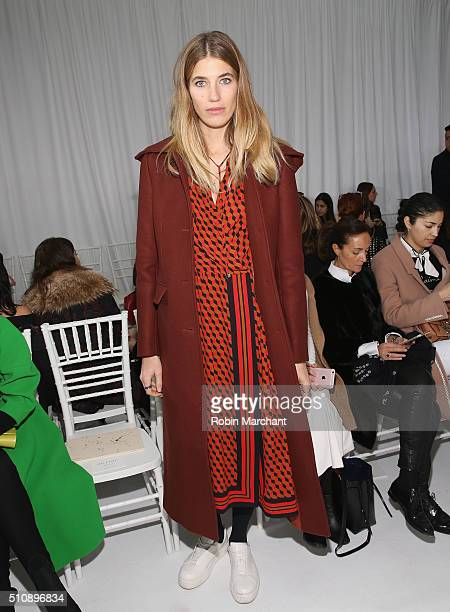 Veronika Heilbrunner attends Delpozo during Fall 2016 New York Fashion Week at Pier 59 Studios on February 17 2016 in New York City