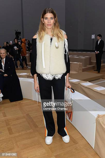Veronika Heilbrunner attends the Chloe show as part of the Paris Fashion Week Womenswear Fall/Winter 2016/2017 on March 3 2016 in Paris France