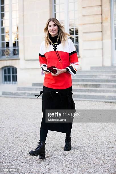 Veronika Heilbrunner attends the Dior Couture show at Musee Rodin on January 25 2016 in Paris France