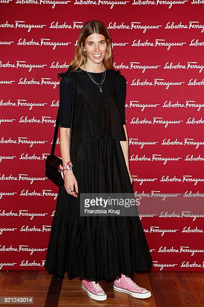 Veronika Heilbrunner attends the Salvatore Ferragamo Shop Opening on April 14 in Berlin 2016 Germany