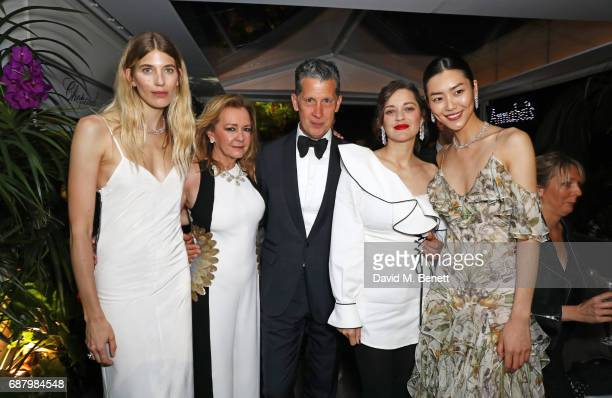 Veronika Heilbrunner Caroline Scheufele Artistic Director and CoPresident of Chopard guest Marion Cotillard and Liu Wen attend the Chopard and...