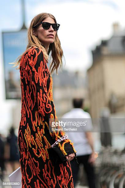 Veronika Heilbrunner is seen after the Dior show during Paris Fashion Week Haute Couture F/W 2016/2017 on July 4 2016 in Paris France