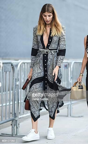 Veronika Heilbrunner is seen outside the Altuzarra show during New York Fashion Week Spring 2017 on September 11 2016 in New York City