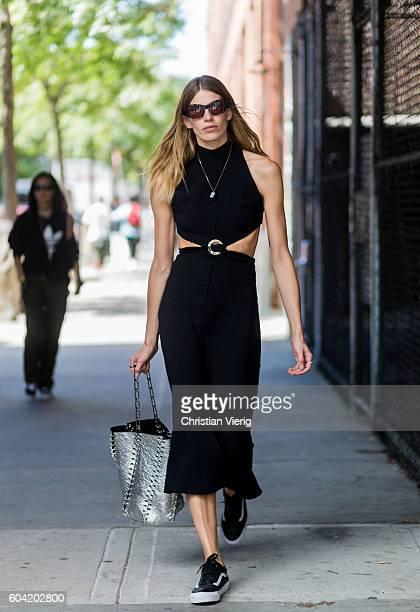 Veronika Heilbrunner outside Proenza Schouler on September 12 2016 in New York City
