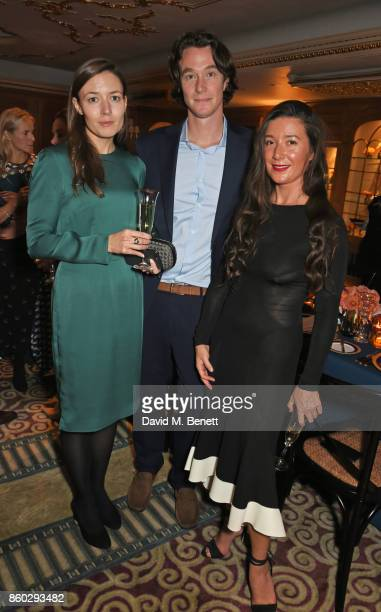 Veronika Kapustina Philippe Chantecaille and Jamie Beck attend a private dinner following the Warrior Games Exhibition VIP Preview hosted by HRH...