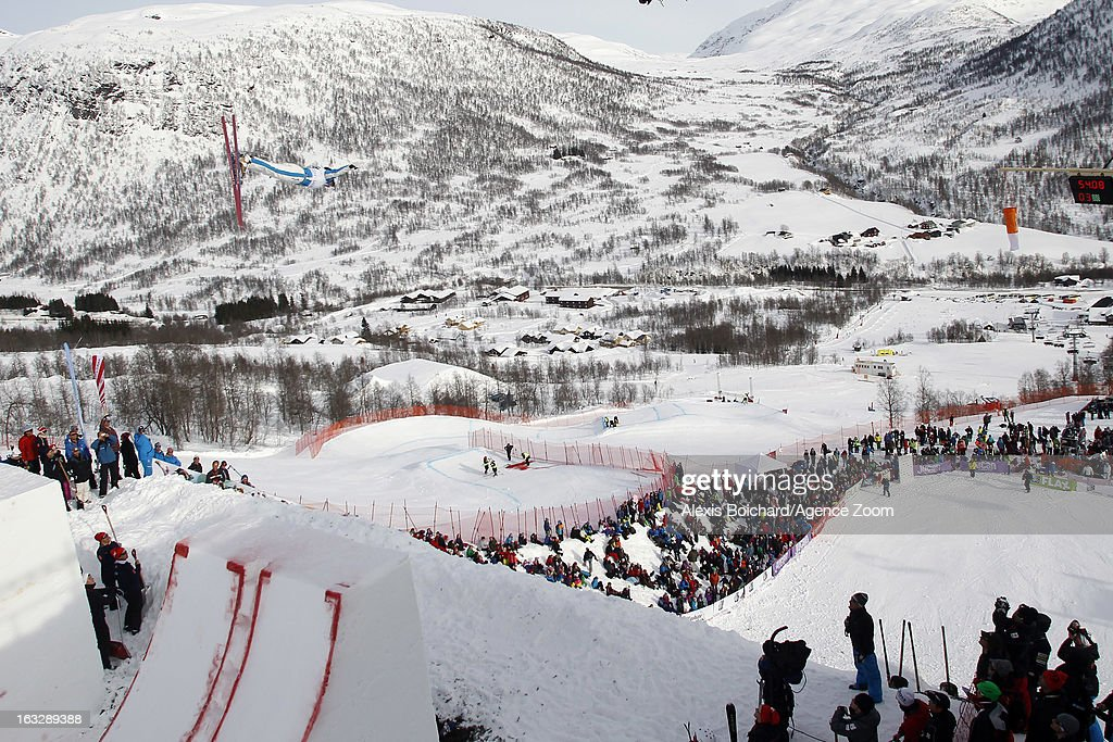 Veronika Korsunova of Russia takes 2nd place during the FIS Freestyle Ski World Championship Men's and Women's Aerials on March 07, 2013 in Voss, Norway.