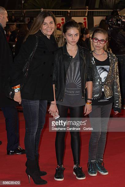 Veronika Loubry and guest attend the '16th NRJ Music Awards 2014' ceremony at Palais des Festivals on December 13 2014 in Cannes France