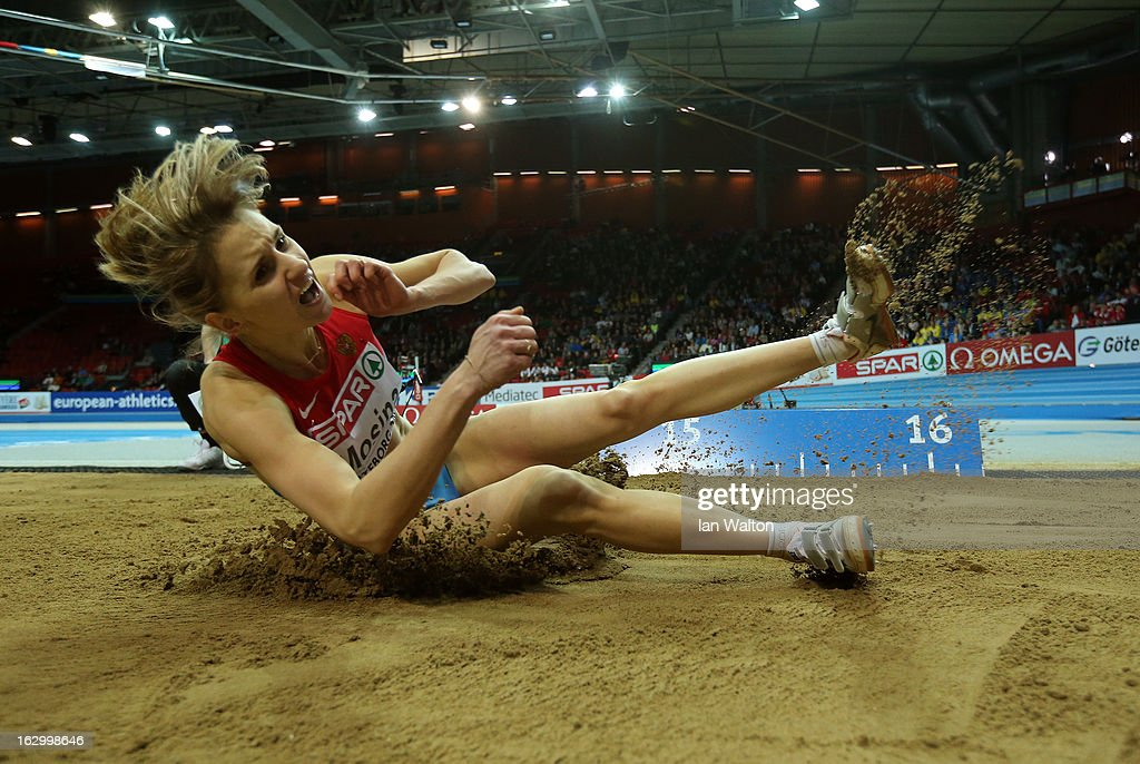 Veronika Mosina of Russia competes in the Women's Triple Jump Final during day three of European Indoor Athletics at Scandinavium on March 3, 2013 in Gothenburg, Sweden.