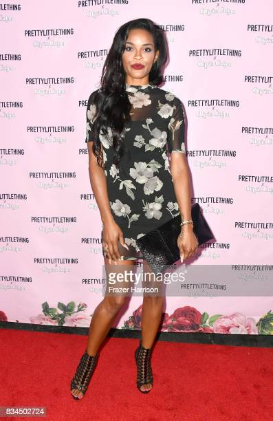Veronika Obeng attends PrettyLittleThing X Olivia Culpo Launch at Liaison Lounge on August 17 2017 in Los Angeles California
