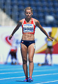Veronika Palickova from Czech Republic competes in women's 100 metres qualification round during the IAAF World U20 Championships at the Zawisza...