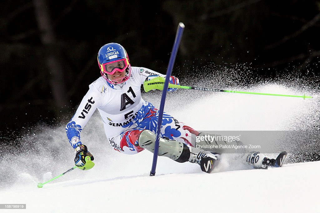 Veronika Velez Zuzulova of Slovakia competes during the Audi FIS Alpine Ski World Cup Women's Slalom on December 29, 2012 in Semmering, Austria.