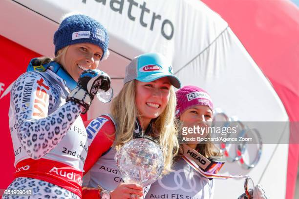 Veronika Velez Zuzulova of Slovakia takes 2nd place in the overall standings Mikaela Shiffrin of USA wins the globe in the overall standings Wendy...