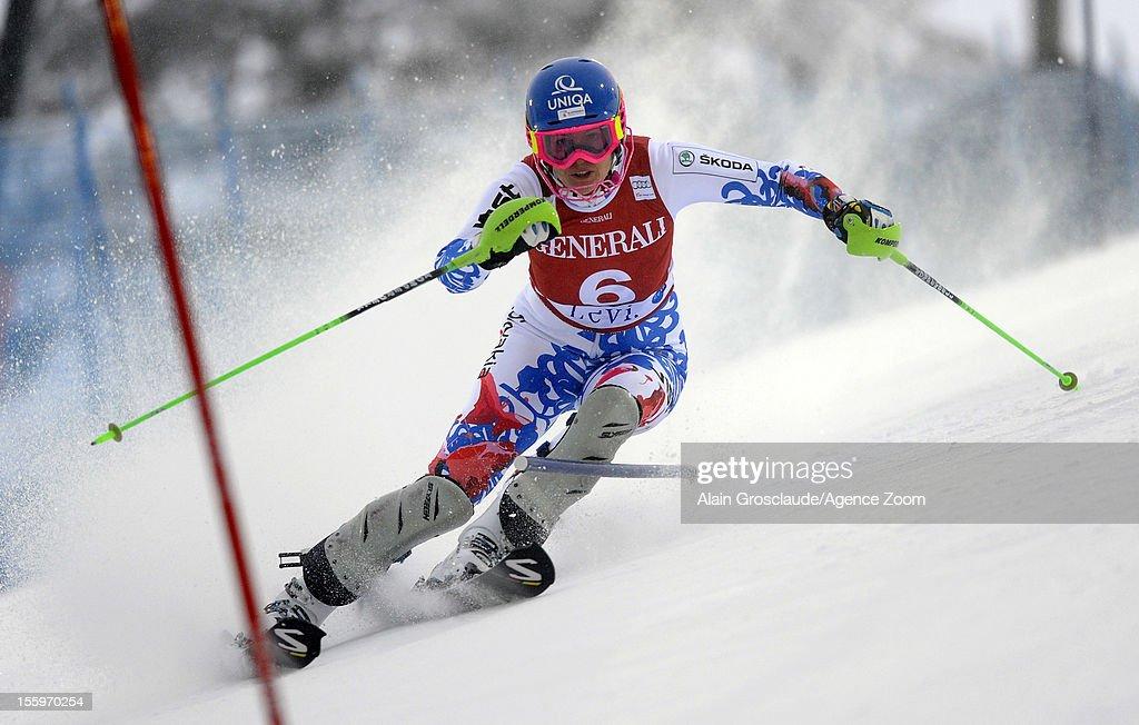 Veronika Zuzulova of Slovakia competes during the Audi FIS Alpine Ski World Cup Women's Slalom on November 10, 2012 in Levi, Finland.