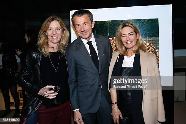 Veronique Bonnefoux Francois Sarkozy and Fabienne Bazire attend the 'Guy Bourdin Portraits' Exhibition Opening and Cocktail at Studio des Acacias on...