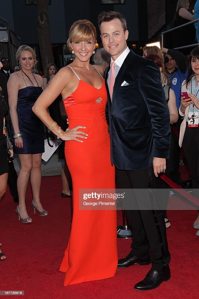 Veronique Cloutier and Husband Louis Morisette attends the 28th Gala Artis held at Theatre Denise Pelletier on April 28, 2013 in Montreal, Canada.