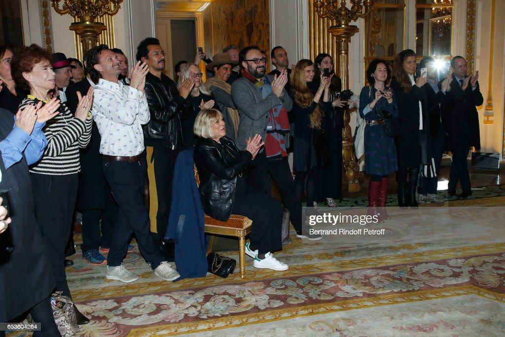 Marie-Agnes Gillot Is Decorated Chevalier De La Legion D'Honneur In Paris