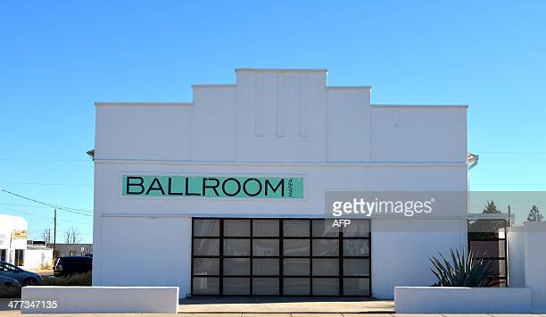 Veronique DUPONT USartstourism The exterior of the Ballroom Marfa in Marfa Texas is pictured on February 28 2014 A town of 1900 people Marfa was...