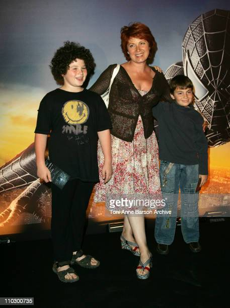 Veronique Genest and Familly during 'SpiderMan 3' Paris Premiere Inside Arrivals at Le Grand Rex Theater in Paris France