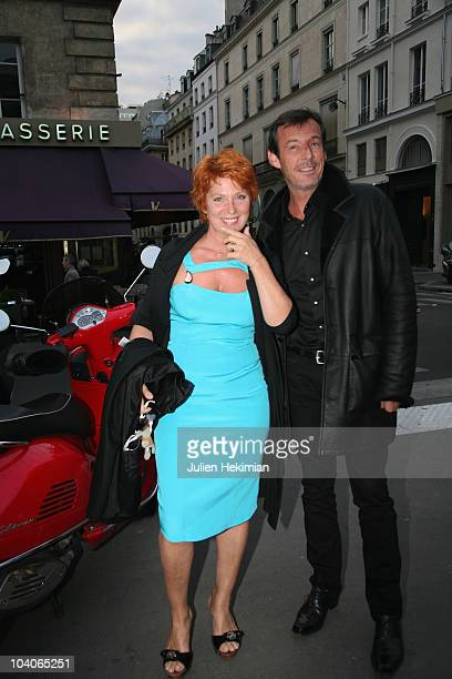 Veronique Genest and JeanLuc Reichmann attend the TF1 cocktail party at Palais Brongniart on September 13 2010 in Paris France