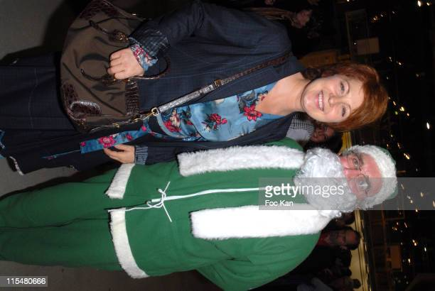 Veronique Genest and Santa Green Claus during The Peres Noel Verts Celebrate Their 30th Anniversary Auction and Cocktail Party December 5 2006 at...