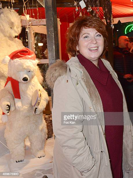 Veronique Genest attends the 'Marche De Noel' Launch at Parvis De La Defense on November 27 2014 in Paris France