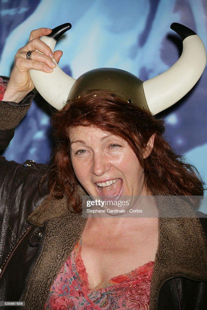 Veronique Genest attends the premiere of 'Asterix et les vikings' in Paris.
