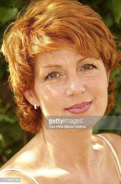Veronique Genest during SaintTropez Fiction Television Festival 2001 Veronique Genest Portraits at Place des Lices in SaintTropez France