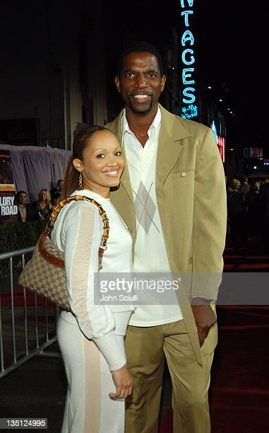Veronique Green and AC Green during 'Glory Road' World Premiere Red Carpet at The Pantages Theater in Los Angeles California United States