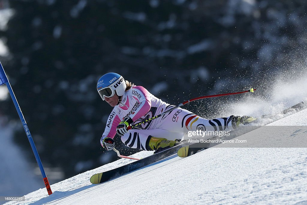 Veronique Hronek of Germany competes during the Audi FIS Alpine Ski World Cup Women's SuperG on March 03, 2013 in Garmisch-Partenkirchen, Germany.
