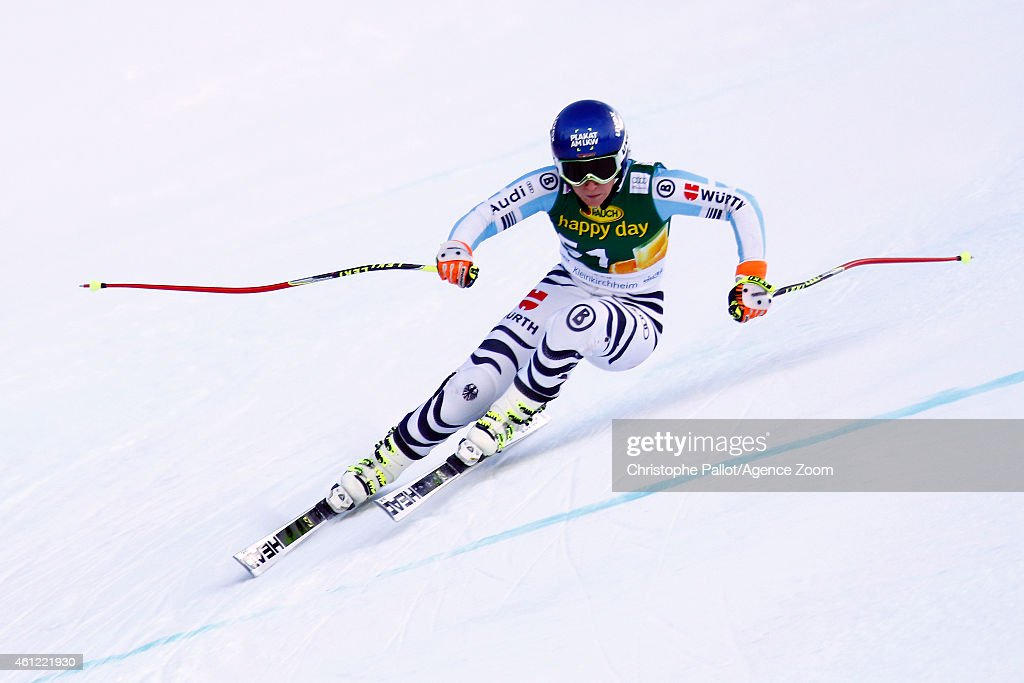 <a gi-track='captionPersonalityLinkClicked' href=/galleries/search?phrase=Veronique+Hronek&family=editorial&specificpeople=6479638 ng-click='$event.stopPropagation()'>Veronique Hronek</a> of Germany competes during the Audi FIS Alpine Ski World Cup Women's Downhill Training on January 09, 2015 in Bad Kleinkirchheim, Austria.