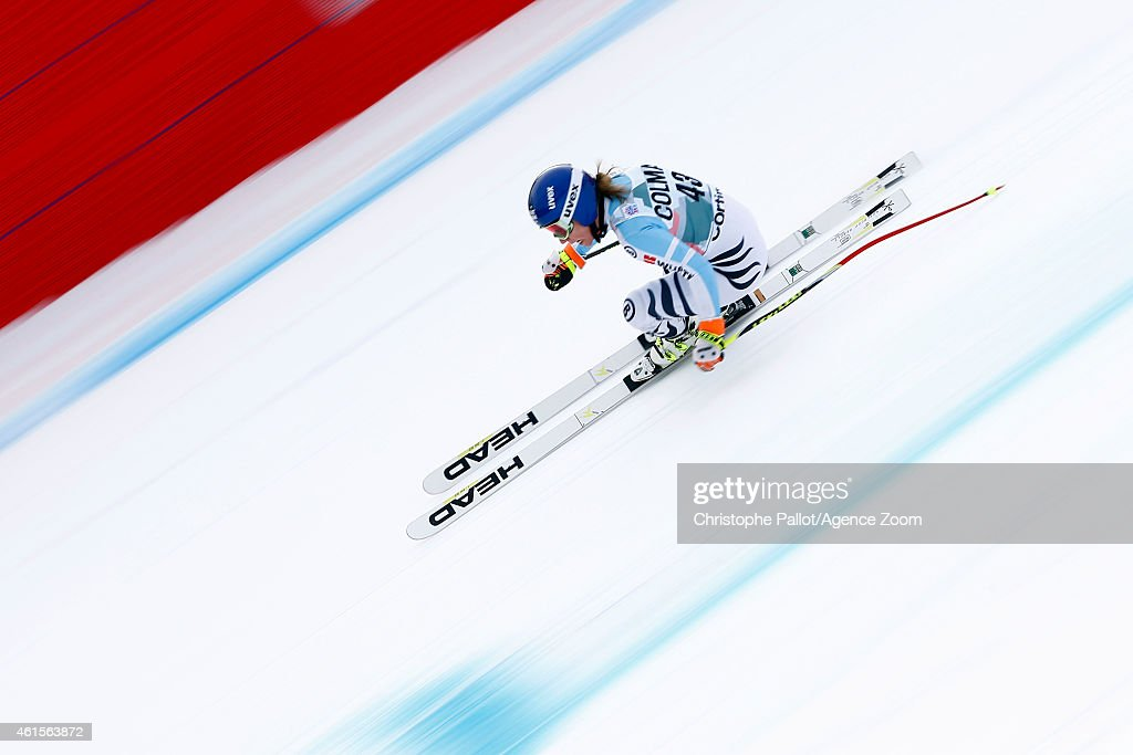 <a gi-track='captionPersonalityLinkClicked' href=/galleries/search?phrase=Veronique+Hronek&family=editorial&specificpeople=6479638 ng-click='$event.stopPropagation()'>Veronique Hronek</a> of Germany competes during the Audi FIS Alpine Ski World Cup Women's Downhill Training on January 15, 2015 in Cortina d'Ampezzo, Italy.