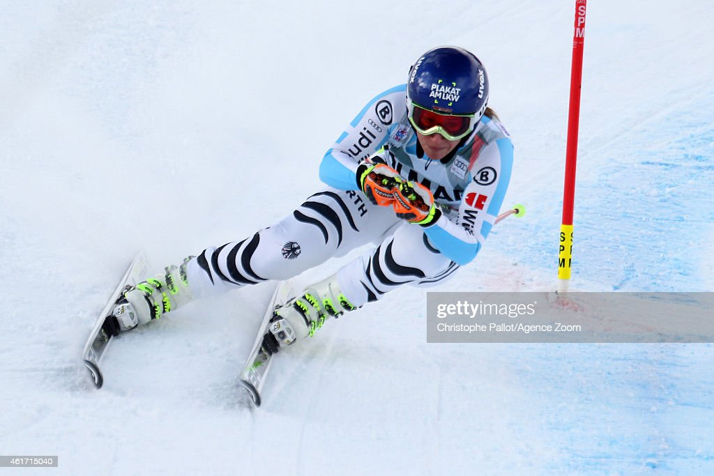 <a gi-track='captionPersonalityLinkClicked' href=/galleries/search?phrase=Veronique+Hronek&family=editorial&specificpeople=6479638 ng-click='$event.stopPropagation()'>Veronique Hronek</a> of Germany competes during the Audi FIS Alpine Ski World Cup Women's Downhill on January 18, 2015 in Cortina da'Ampezzo, Italy.