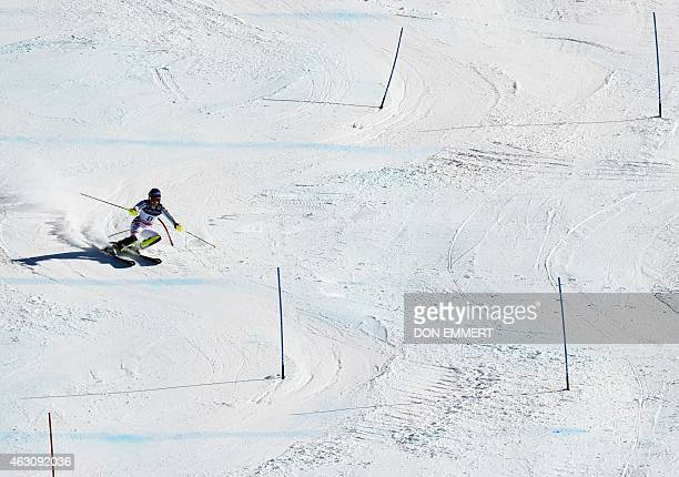 Veronique Hronek of Germany skis during the 2015 World Alpine Ski Championships women's combinedslalom February 9 2015 in Beaver Creek Colorado AFP...