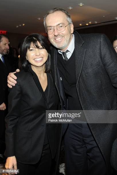 Veronique Nichanian and Jim Moore attend Opening of the First HERMES Men's Store in New York at Hermes Man on Madison Seventh Regiment Armory on...