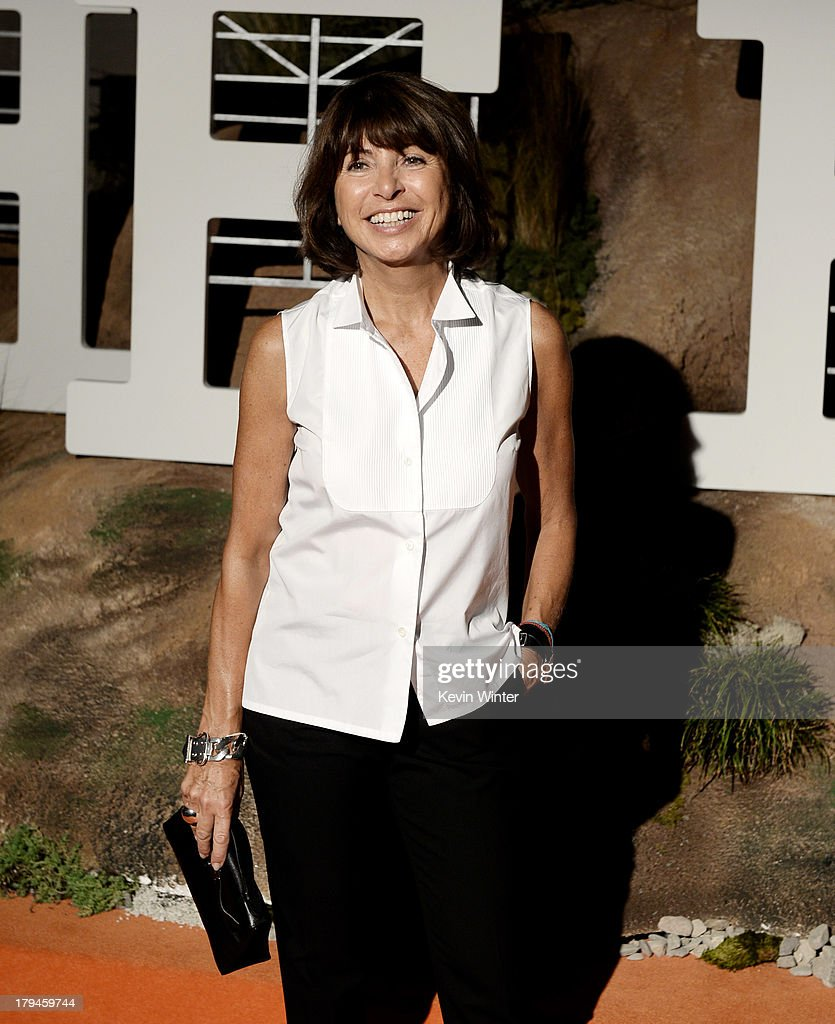 Veronique Nichanlan, Artistic Palmer, Men's Universe arrives at the after party for the opening of Hermes Beverly Hills Boutique at 3 Labs on September 3, 2013 in Culver City, California.