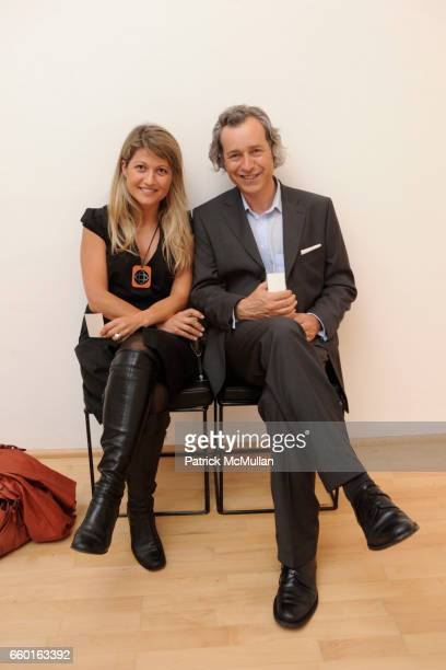 Veronique Poitiers and Gilles Roux attend GALERIE GMURZYNSKA Celebrates the Opening of YVES KLEIN ROTRAUT Exhibition at Museo d'Arte Lugano on May 15...