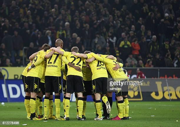 Verschwörung des BVB or dem Spiel Fussball 1 Bundesliga Borussia Dortmund FC Schalke 04 4 2 2010 Saison 2010 / 2011