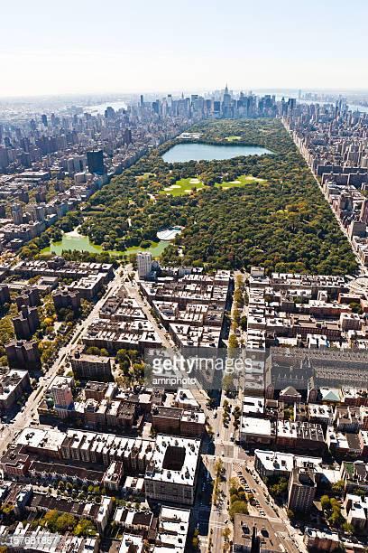 vertical aerial shot central park