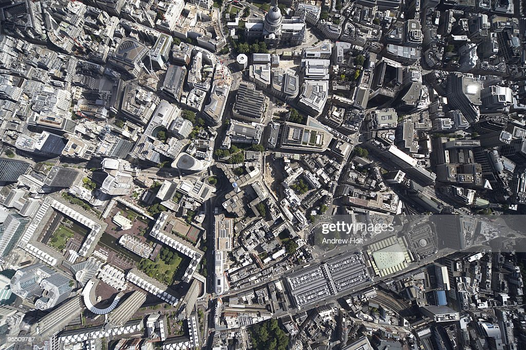 Vertical aerial view, City of London