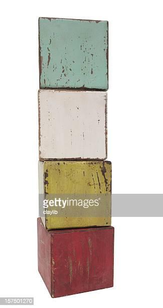 Vertikale Mischung aus antiken Häuserblocks