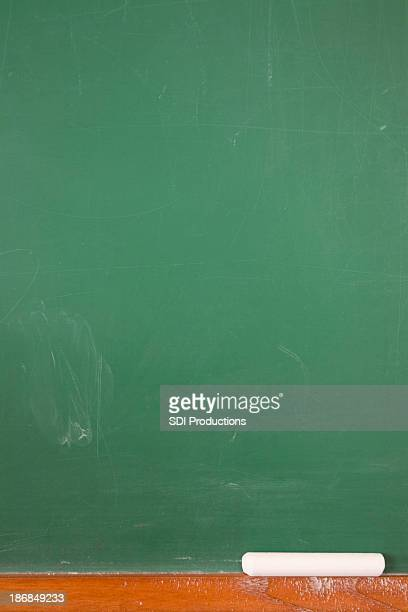 Vertical Empty Chalkboard with Chalk and Copy Space