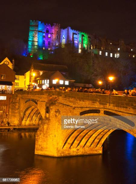 Vertical Night in Durham at Lumiere festival, North England.