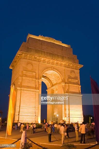 Vertical Night shot of India Gate in New Delhi Monument