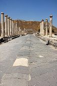 Vertical perspective of Palladius Street, Beth Shean