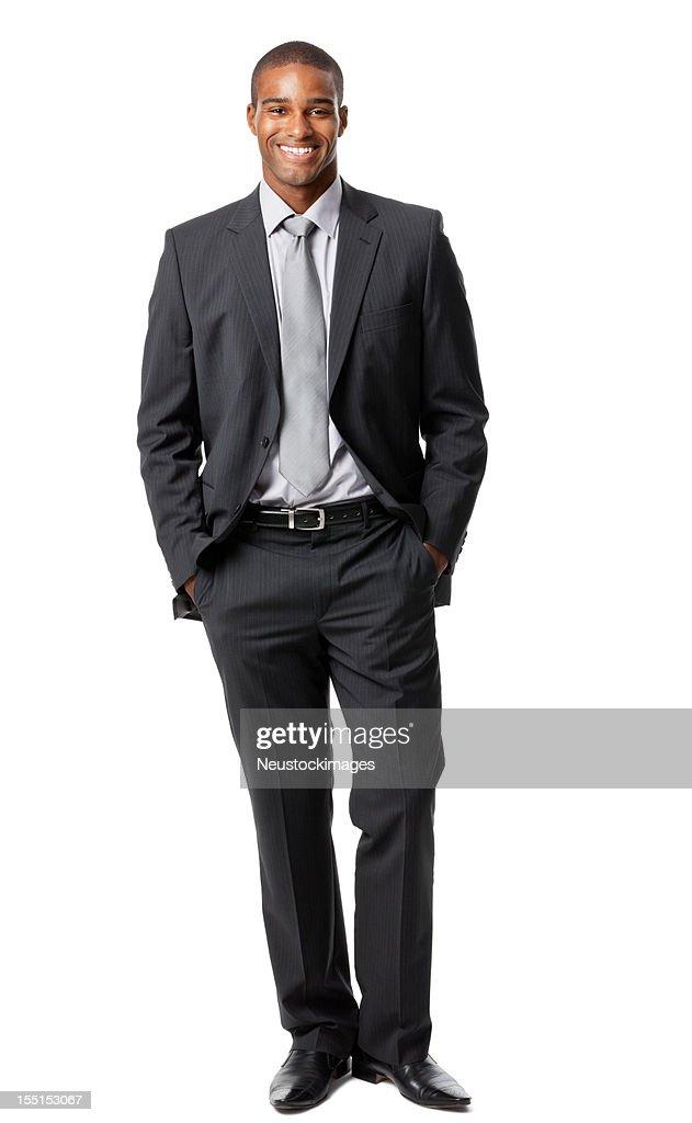 Foto verticale di un uomo con sfondo bianco : Foto stock