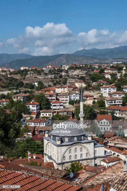 Vertical shot of Safranbolu town, famous with its old houses and mansions, Karabuk Turkey.