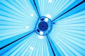 vertical solarium close up